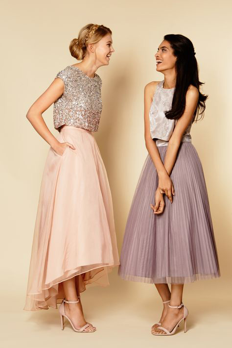 Resultado de imagen de vestidos en dos piezas para bodas