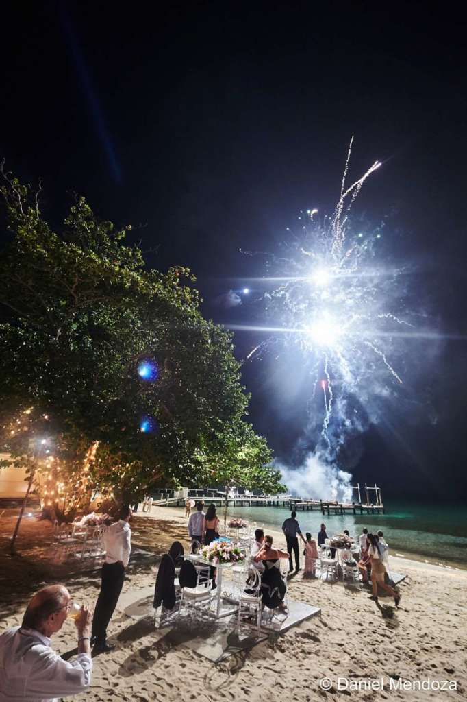 fireworks destination wedding